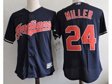 Youth Majestic Mlb Cleveland Indians #24 Andrew Miller Blue Cool Base Jersey