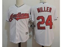 Youth Majestic Mlb Cleveland Indians #24 Andrew Miller White Cool Base Jersey