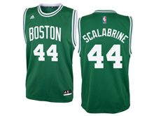 Mens Nba Boston Celtics #44 Brian Scalabrine Green Jersey