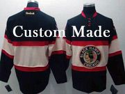 Mens Reebok Nhl Chicago Blackhawks (custom Made) Black New Third Jersey