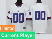Nfl New York Giants White Color Rush Limited Jersey