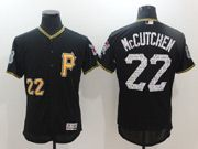 Mens Majestic Pittsburgh Pirates #22 Andrew Mccutchen Black 2017 Spring Training Flex Base Jersey