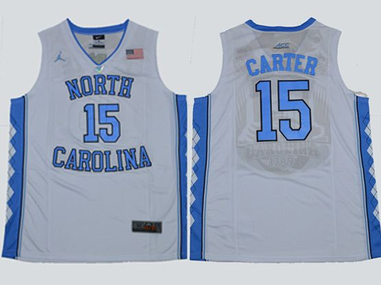 Mens Ncaa Nba North Carolina #15 Carter Swingmann White Jersey
