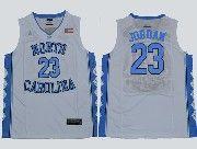 Mens Ncaa Nba North Carolina #23 Jordan Swingmann White Jersey