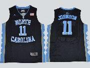 Mens Ncaa Nba North Carolina #11 Johnson Black Jersey