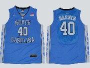 Mens Ncaa Nba North Carolina #40 Barnes Blue Jersey