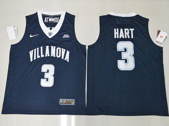 Mens Ncaa Nba Villanova Wildcats #3 Hart Navy Blue Jersey