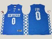 Mens Ncaa Nba Kentucky Wildcats #0 De'aaron Fox Royal Blue College Basketball Elite Jersey