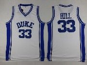 Mens Ncaa Nba Duke Blue Devils #33 Grant Hill White College Basketball Jerseys