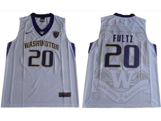 Mens Ncaa Nfl Washington Huskies #20 Markelle Fultz White College Basketball Jersey