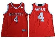 Mens Ncaa Nba Nc State Wolfpack #4 Dennis Smith Red College Basketball Jersey