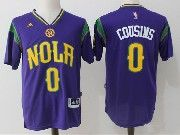 Mens Nba New Orleans Pelicans #0 Demarcus Cousins Purple Basketball Jerseys