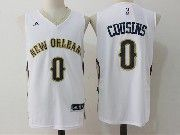 Mens Nba New Orleans Pelicans #0 Demarcus Cousins White Basketball Jerseys