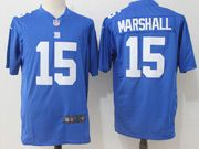 Mens Nfl New York Giants #15 Brandon Marshall Blue Game Jersey