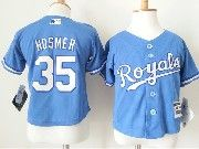 Kids Mlb Kansas City Royals #35 Eric Hosmer Light Blue Jersey
