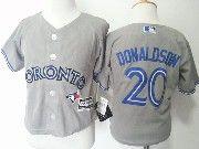 Kids Mlb Toronto Blue Jays #20 Josh Donaldson Grey Jersey