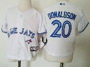 Kids Mlb Toronto Blue Jays #20 Josh Donaldson White Jersey