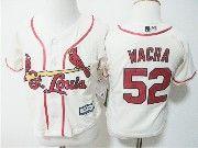 Kids Majestic Mlb St.louis Cardinals #52 Michael Wacha Cream Jersey