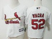 Kids Majestic Mlb St.louis Cardinals #52 Michael Wacha White Jersey