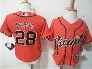 Kids Mlb San Francisco Giants #28 Buster Posey Orange Jersey