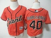 Kids Mlb San Francisco Giants  #40 Bumgarner Orange Jersey