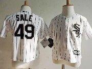 Kids Mlb Majestic Chicago White Sox #49 Chris Sale White Stripe Jersey
