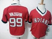 Kids Majestic Mlb Cleveland Indians #99 Ricky Vaughn Throwbacks Jersey