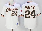 Mens Mlb San Francisco Giants# 24 Willie Mays White Pullover Cool Base Baseball Jersey