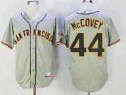 Mens Mlb San Francisco Giants #24 Willie Mays Grey Cool Base Throwback Baseball Jersey