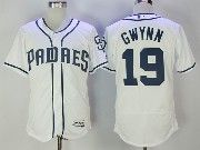 Mens Mlb San Diego Padres #19 Tony Gwynn White Flex Base Baseball Jersey