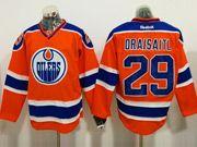 Mens Reebok Nhl Edmonton Oilers #29 Leon Draisaitl Orange Ice Hockey Jersey