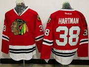 Mens Reebok Chicago Blackhawks #38 Ryan Hartman Red Ice Hockey Jersey