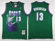 Mens Nba Milwaukee Bucks #13 Malcolm Brogdon Green Hardwood Classic Swingman Jersey