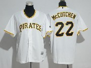 Mens Majestic Mlb Pittsburgh Pirates #22 Andrew Mccutchen White Cool Base Jersey