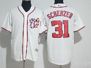 Mens Mlb Washington Nationals #31 Max Scherzer White Cool Base Jersey
