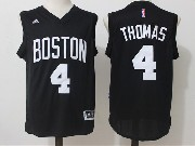 Mens Nba Boston Celtics #4 Isaiah Thomas Black Jersey