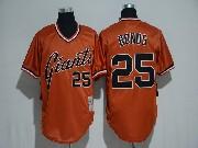 Mens Mlb San Francisco Giants #25 Barry Bonds Orange Pullover Cool Base Jersey