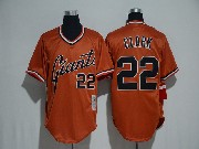 Mens Mlb San Francisco Giants #22 Will Clark Orange Pullover Cool Base Jersey