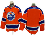 Mens Reebok Nhl Edmonton Oilers Blank Orange Jersey