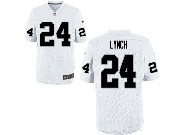 Mens Nfl Oakland Raiders #24 Marshawn Lynch White Game Jersey