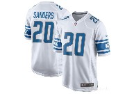 Mens Nfl Detroit Lions #20 Barry Sanders White 2017 Game Jersey