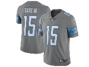 Mens Nfl Detroit Lions #15 Golden Tate Grey 2017 Game Jersey