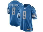 Mens Nfl Detroit Lions #9 Matthew Stafford Blue 2017 Game Jersey