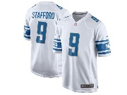 Mens Nfl Detroit Lions #9 Matthew Stafford White 2017 Game Jersey