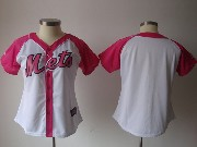Women Mlb New York Mets Blank Pink Splash Fashion Jersey