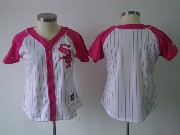 Women Mlb Chicago White Sox Blank Pink Splash Fashion Jersey