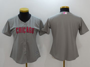 Women Majestic Mlb Chicago Cubs Blank Grey Mother's Day Cool Base Jersey