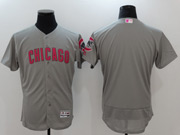 Mens Majestic Mlb Chicago Cubs Blank Grey Mother's Day Flex Base Jersey