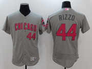 Mens Majestic Mlb Chicago Cubs #44 Anthony Rizzo Grey Mother's Day Flex Base Jersey