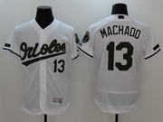 Mens Majestic Baltimore Orioles #13 Manny Machado White 2017 Memorial Day Flex Base Jersey